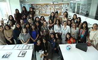 International VOGUE Editor, Suzy Menkes visits ISDI